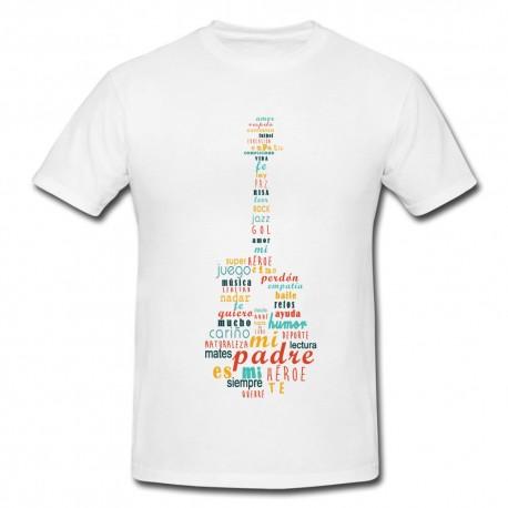 Camiseta Papa Guitarra