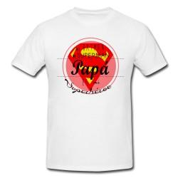 Camiseta Papá héroe roja