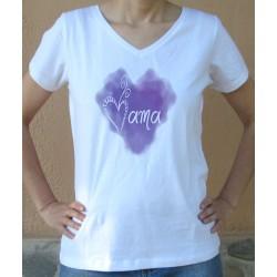 Camiseta mama corazón rosa